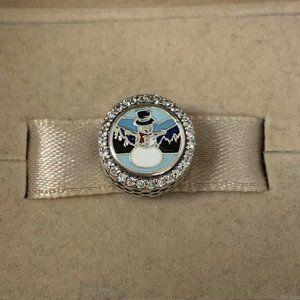 Pandora SMOKY MTNS snowman Charm Bracelet